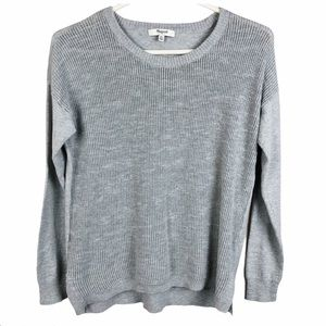 3/$30 MADEWELL Cobblewalk Grey Pullover Sweater